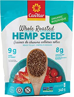 CanMar Organic Hemp Seed (12oz/340g) | Whole Roasted Hemp Seeds | Ready to Eat - Great Taste & Aroma | Ideal Plant Based P...