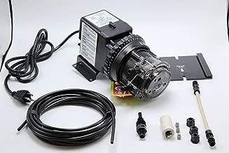 Stenner Pump 85mhp17. Stenner Peristaltic Pump Adjustable Head - Rated at 0.8 to 17.0 gpd adjustable head. Rated at 100 psi. Ideal Chlorine Pump. Ideal Chlorine Injection Pump. Chlorinator Pump