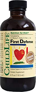 ChildLife Essentials First Defense - Immune Support for Defending The Body - Gluten Free, Alcohol Free, Casein Free, Non-G...