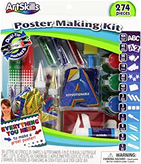 Best ArtSkills Poster Making Kit Arts and Crafts Supplies Includes Washable Markers, Stencils, Letters, Glitter, Glue, and More, 274 Pieces Review