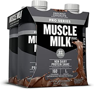 Muscle Milk Pro Series Protein Shake, Knockout Chocolate, 4 Count