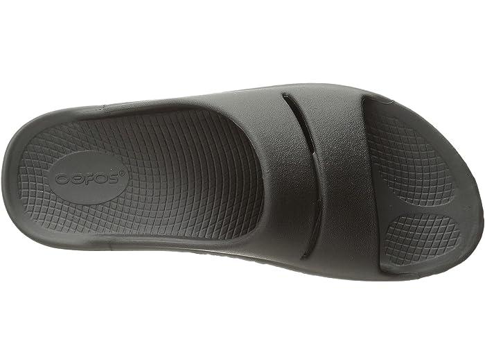 Oofos Ooahhh Slides CHOOSE SIZE Mens Slip On Sandals Black Shoe Outdoor Slipper