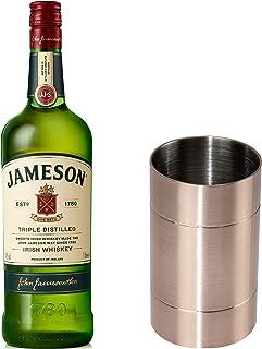 Jameson Irish Whiskey Set mit Jigger, Blended Irish Whisky, Schnaps, Spirituose, Alkohol, Flasche, 40 %, 1 L
