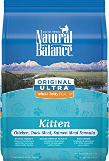 Natural Balance Original Ultra Whole Body Health Dry Kitten Food, Chicken, Duck Meal & Salmon Meal
