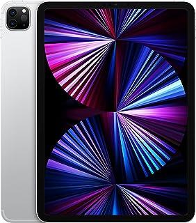 جهاز ابل ايباد برو 2021 الجيل الثالث (11 انش، اتصال واي فاي + اتصال شبكة خلوية، سعة 256 جيجا) - فضي