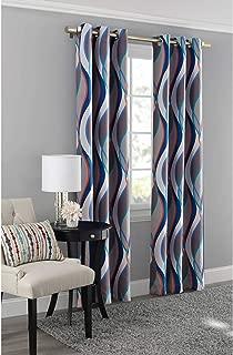 Mainstay Blackout Energy Efficient Grommet Curtain Panel, 40x63 Blue/Helix
