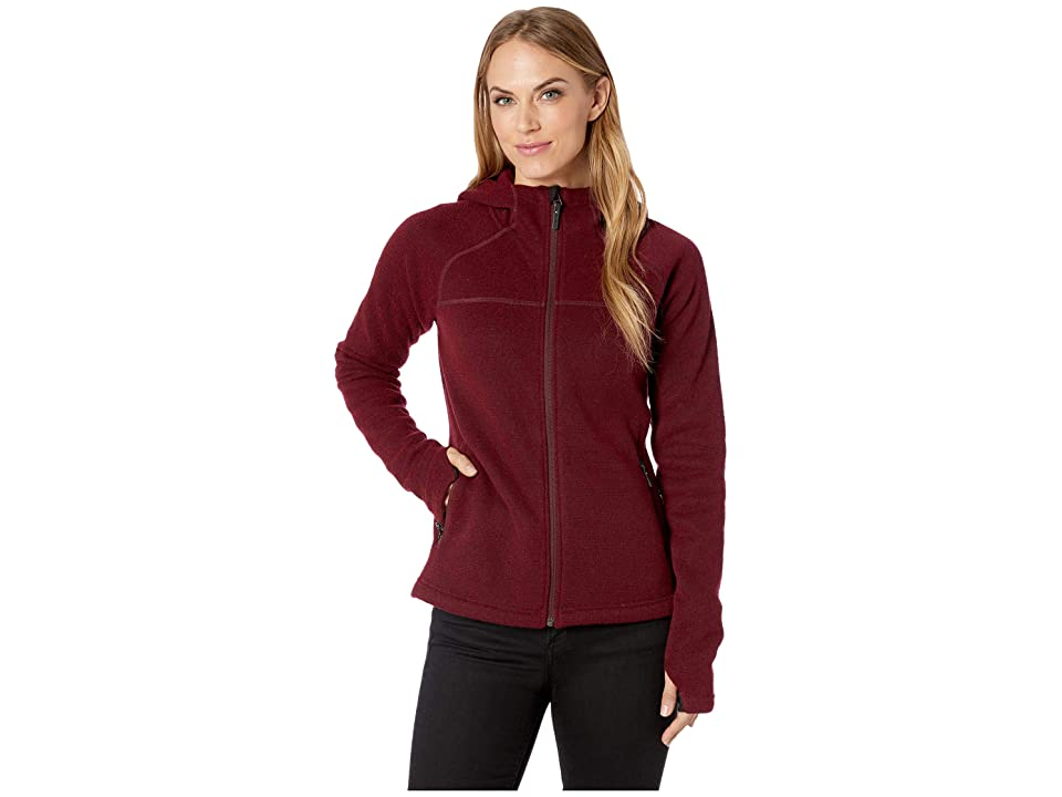 cb2d231bb2 Smartwool Hudson Trail Full Zip Fleece Sweater (Tibetan Red) Women s Sweater