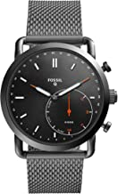Fossil Q Men's Commuter Stainless Steel Mesh Hybrid Smartwatch, Color: Grey (Model: FTW1161)