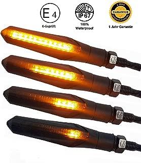 CCAUTOVIE LED Blinker Motorrad E Gepr/üft Universal LED Blinker Tagfahrlicht Motorrad Blinker Motorrad LED Lauflicht Bernstein Wei/ß Rot E11 Packung mit 4 St/ück