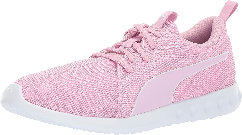 PUMA Women's Carson 2 Sneaker, Pale Pink-puma White, 6.5 M US