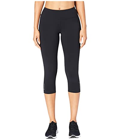 Core 10 Onstride Medium Waist Run Capri Leggings (Black) Women