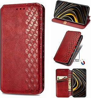 NEINEI Hoesje voor Samsung Galaxy A22 5G Case,PU/TPU Flip Leer Hoes,Mode Retro Ontwerp Protector Cover met [Magnetisch] [K...