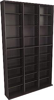Best Atlantic Oskar Adjustable Media Cabinet - Holds 1080 Cds, 504 DVDs or 576 Blu-Rays/Games, 30 Adjustable and 6 Fixed Shelves PN38435714 in Espresso Review