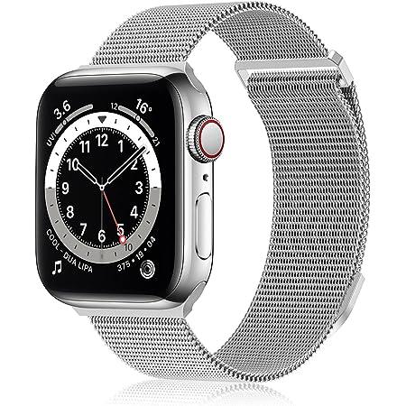 FRESHCLOUD コンパチブル apple watch バンド コンパチブル アップルウォッチバンド 38mm 40mm 42mm 44mm ステンレス留め金製 コンパチブル iwatch series 7/6/5/4/3/2/1/SEに対応 磁石 軽量モデル
