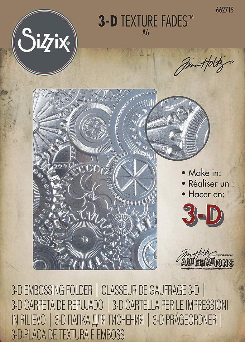 Sizzix (SIZC7) 662715 3-D Texture Fades Embossing Folder, Gray