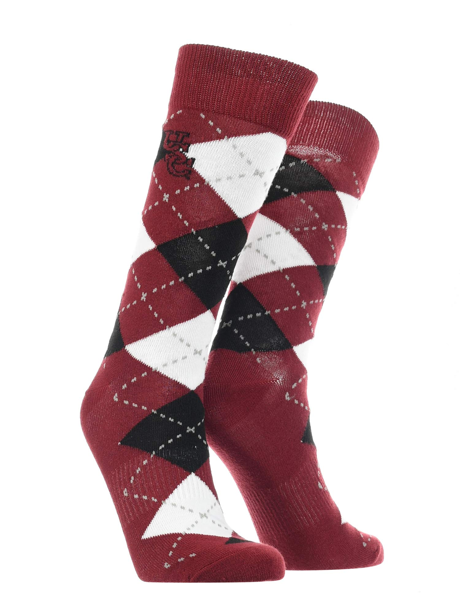 TCK South Carolina Fighting Gamecocks Socks Basic Crew White Socks
