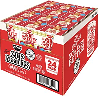 Nissin Cup Noodles Beef Flavor Soup 2.25 oz (Pack of 24)