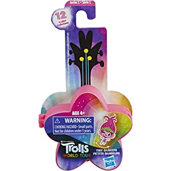 DreamWorks Trolls World Tour Tiny Dancers Series 1 Collectible Wearable Toy Figures, 1 of 12 Different Characters, with Ring or Barrette