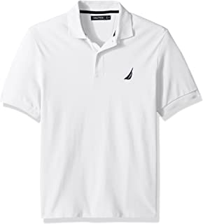 Nautica Men's Short Sleeve Solid Cotton Pique Polo Shirt