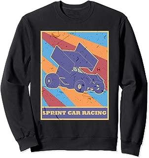 Sprint Car Racing Vintage Retro Colors Dirt Track Racer Sweatshirt