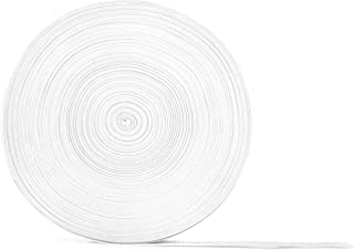 """White Polypropylene Webbing 50 Yards x 1-inch; 1"""" Wide Polypro Strap Webbing; Great for Bags, Outdoor Gear; Collars, Leashes, Halters, Sporting Gear & More"""