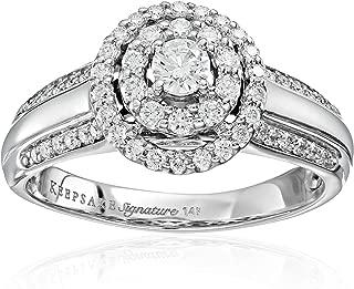 Keepsake Signature 14k Gold Diamond Double Halo Engagement Ring (3/4cttw, H-I Color, I1 Clarity)