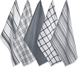 "DII Cotton Luxury Assorted Kitchen Dish Towels, 18 x 28"" Set of 5, Ultra Absorbent Fast Dry, Professional Grade Tea Towels..."