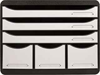 Exacompta - Réf. 306713D - STORE-BOX-Caisson 6 tiroirs, 3 tiroirs pour documents A4+ et 3 tiroirs fins hauts-Dimensions ex...