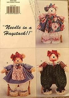 New Primitive Butterick 3718 Sewing Pattern Decorative Teddy Bear Dolls Supply:just-a-Gramma