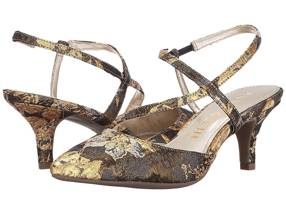 Anne Klein Ferdie (Dark Grey/Gold Multi Fabric) Women