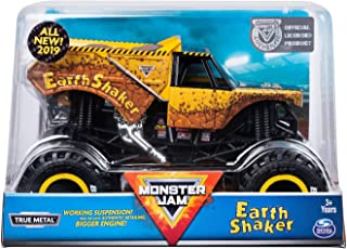 MJ Monster Jam Official Earth Shaker Monster Truck Die-Cast Vehicle, 1:24 Scale