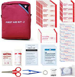 DAVEMED Mini First Aid Kit,Small Personal Emergency Kit,Waterproof Portable Survival Suppiles for Outdoors Camping,Huntin...