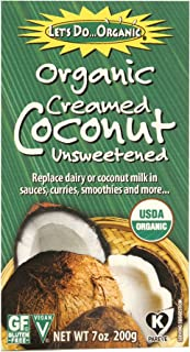 Let's Do Organic Creamed Coconut, 7 Ounce Box (Pack of 6)
