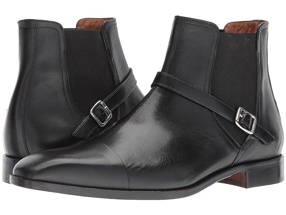 Massimo Matteo Chelsea Buckle Boot (Black) Men