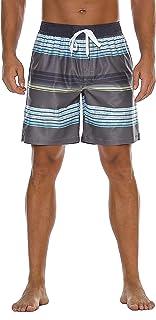 Nonwe Men's Swim Trunks Water Sport Printed Quick Dry...