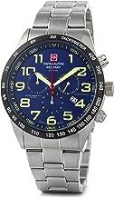 Swiss Alpine Military by Grovana Hombre Reloj Chrono 10ATM Blue 7047.9135sam