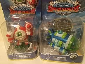 Skylanders Superchargers 360 Character & Vehicle bundle Missile-Tow Dive Clops & Dive Bomber