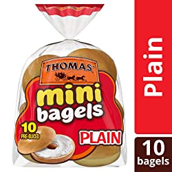 Thomas' Plain Mini Bagels, 10 Count