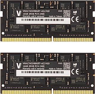 v-color Hynix IC ノートPC用メモリ DDR4 2400MHz PC4-19200 32GB (16GB×2枚) SO-DIMM 1Gx8 1.2V CL17 iMac対応 無期限保証(永久保証)TN416G24D817K-VC