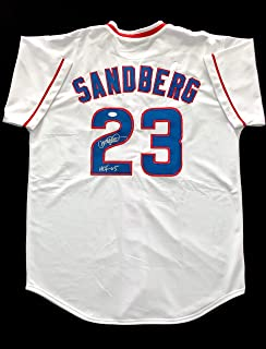 696306933 Ryne Sandberg Chicago Cubs Signed Autograph Baseball Jersey JSA COA