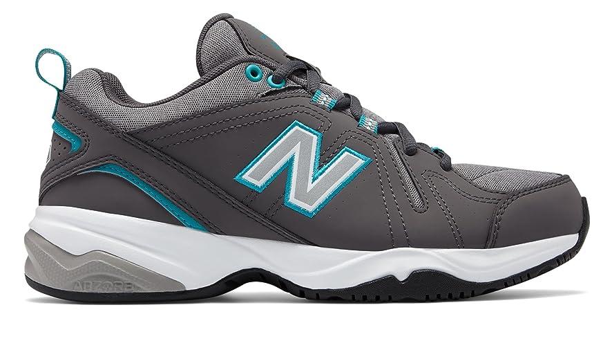 展開する大通り補う(ニューバランス) New Balance 靴?シューズ レディーストレーニング Womens 608v4 Grey with Teal グレー ティール US 12 (29cm)