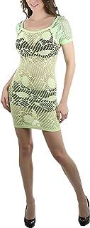 فستان حفلة ساحر قصير من ToBeInStyle نسائي قابل للتمدد