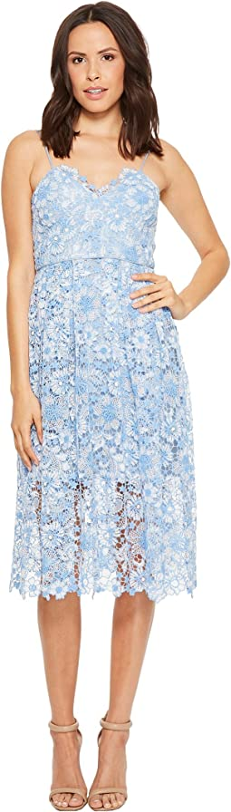 Donna Morgan - Spaghetti Strap Lace Midi Dress