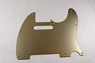 Brushed Gold Anodized Aluminum Tele Pickguard- Fits Fender Telecaster- USA MADE!