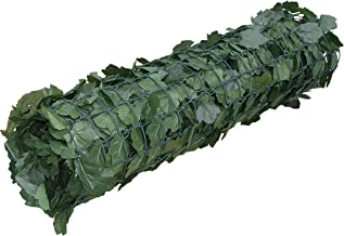 ALEKO SCRN94X39INDG Faux Ivy Privacy Fence Screen Artificial Hedge Vine Mesh Outdoor Decorative Trellis 94 X 39 Inches Green