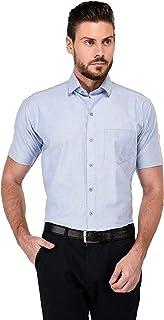 STUDIO NEXX Men's Blue Cotton Formal Shirt