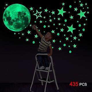 Konsait Luminoso Pegatinas de Pared, 435pcs Puntos Luna y