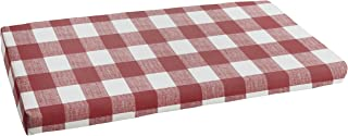 Mozaic AMCS114442 Indoor or Outdoor Bench Cushion, 48 in W x 19 in D, Anderson Sangria
