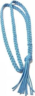 neck rope horse tack bridleless riding light blue