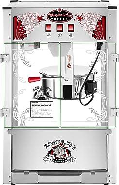 SUPERIOR POPCORN Majestic Popcorn Machine- Commercial Style Popcorn Popper Machine-Makes Approx. 7.5 Gallons Per Batch (16 oz